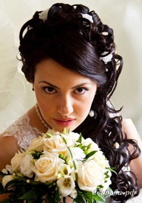 Прически на торжество и свадьбу