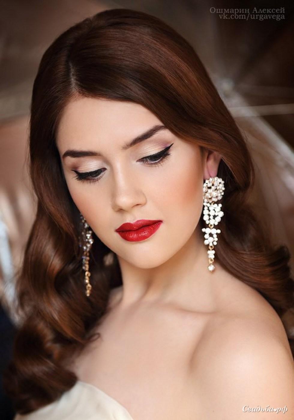 Фото свадебного макияжа губ