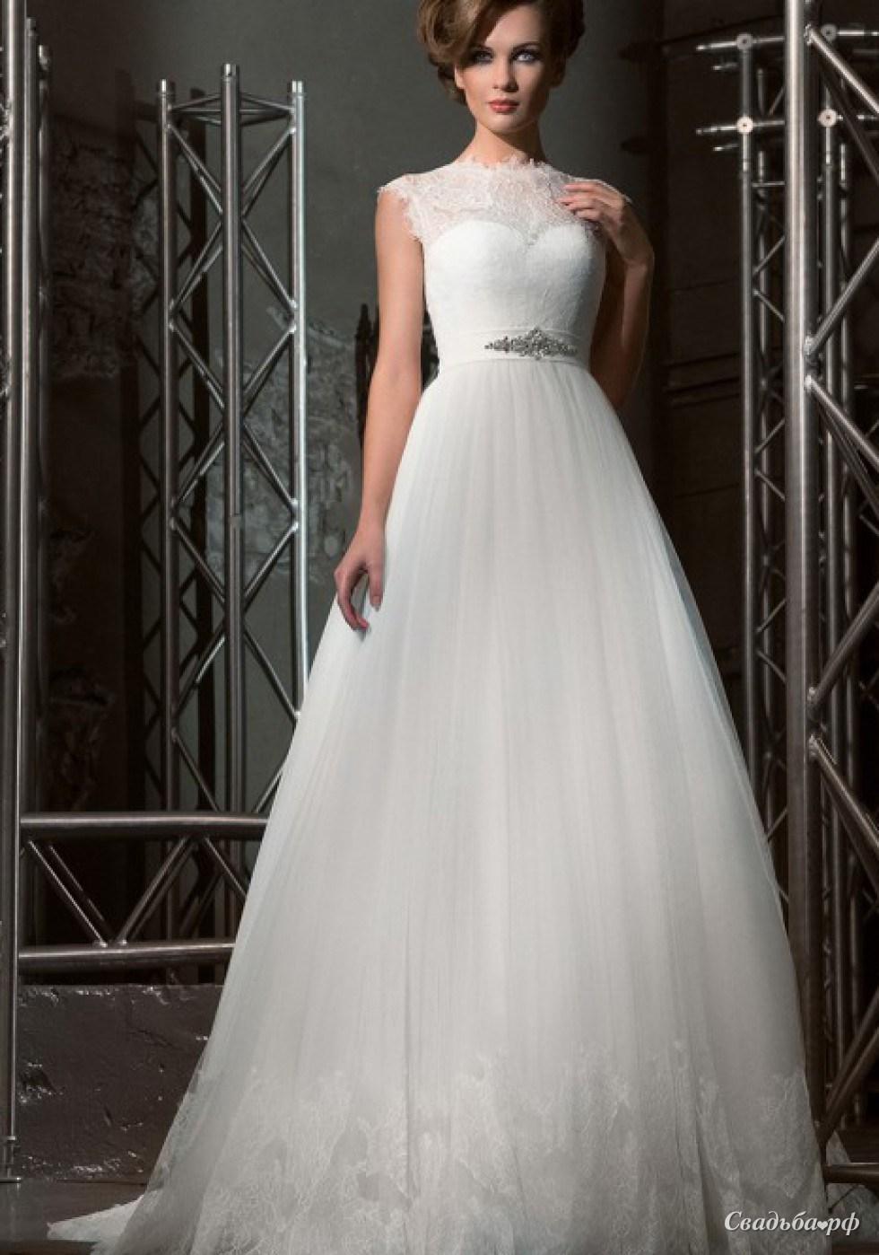 Пышные свадебные платья закрытые плечи